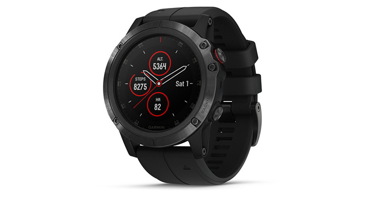 Garmin Fenix 5X Plus - Color: Sapphire Size: OS, Black, large, image 1
