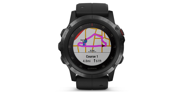 Garmin Fenix 5X Plus - Color: Sapphire Size: OS, Black, large, image 2