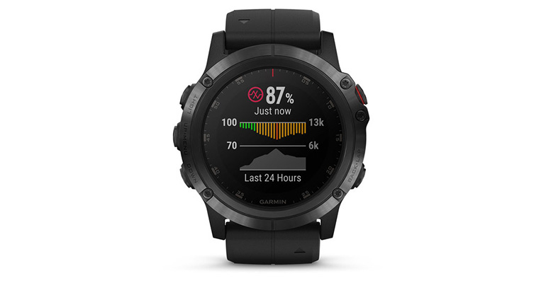 Garmin Fenix 5X Plus - Color: Sapphire Size: OS, Black, large, image 3