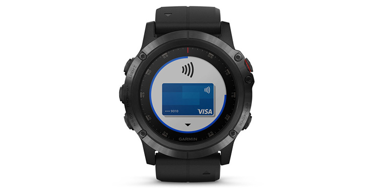 Garmin Fenix 5X Plus - Color: Sapphire Size: OS, Black, large, image 4