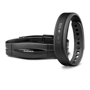 Garmin Vivosmart HRM Bundle Black Size:S, Black w/HRM, large, image 1