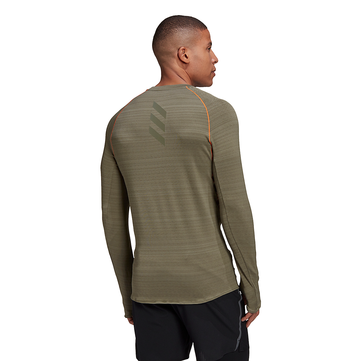 Men's Adidas Runner Long Sleeve Tee - Color: Legacy Green - Size: S, Legacy Green, large, image 3