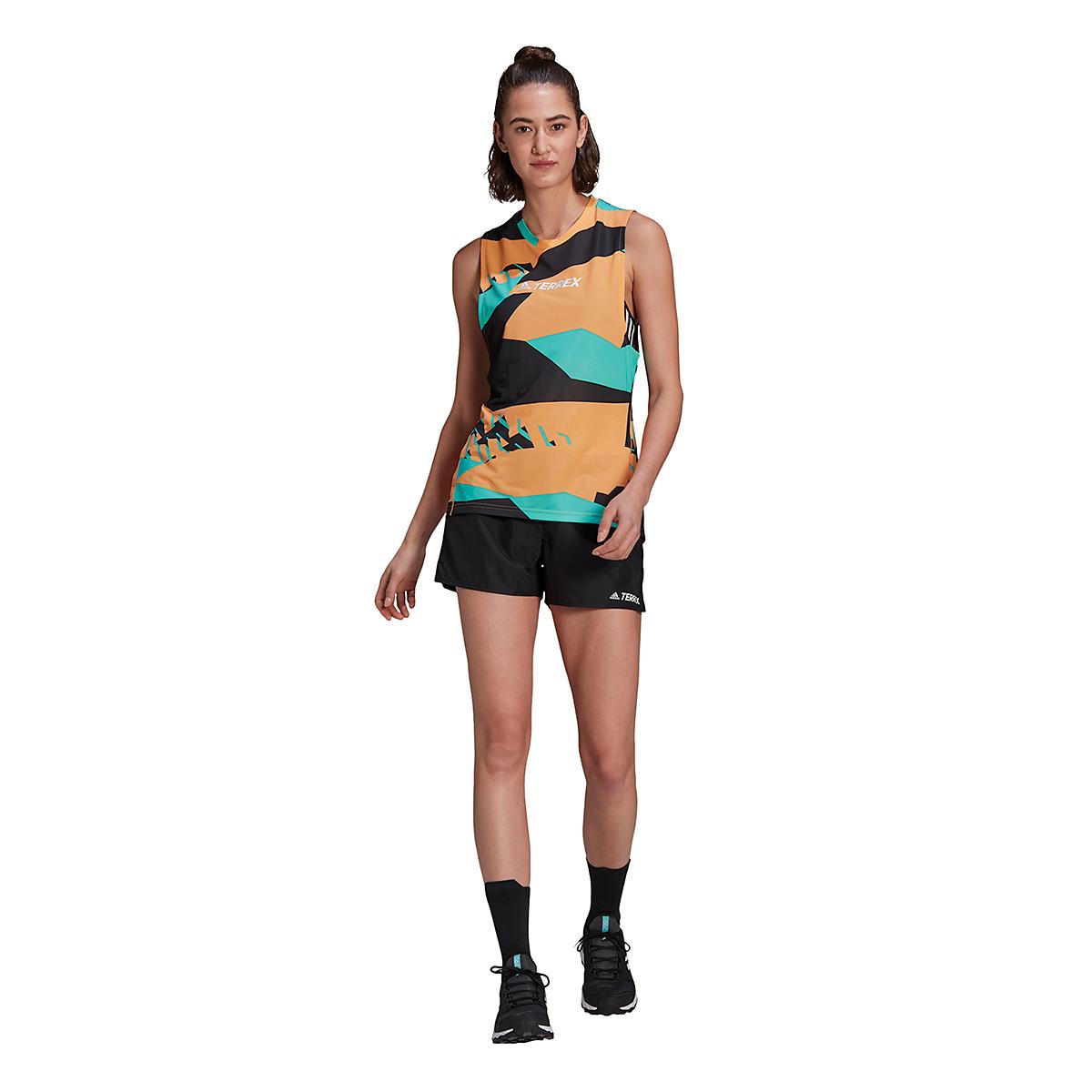 Women's Adidas Terrex Parley Agravic TR Tank Top - Color: Hazy Orange - Size: XS, Hazy Orange, large, image 1