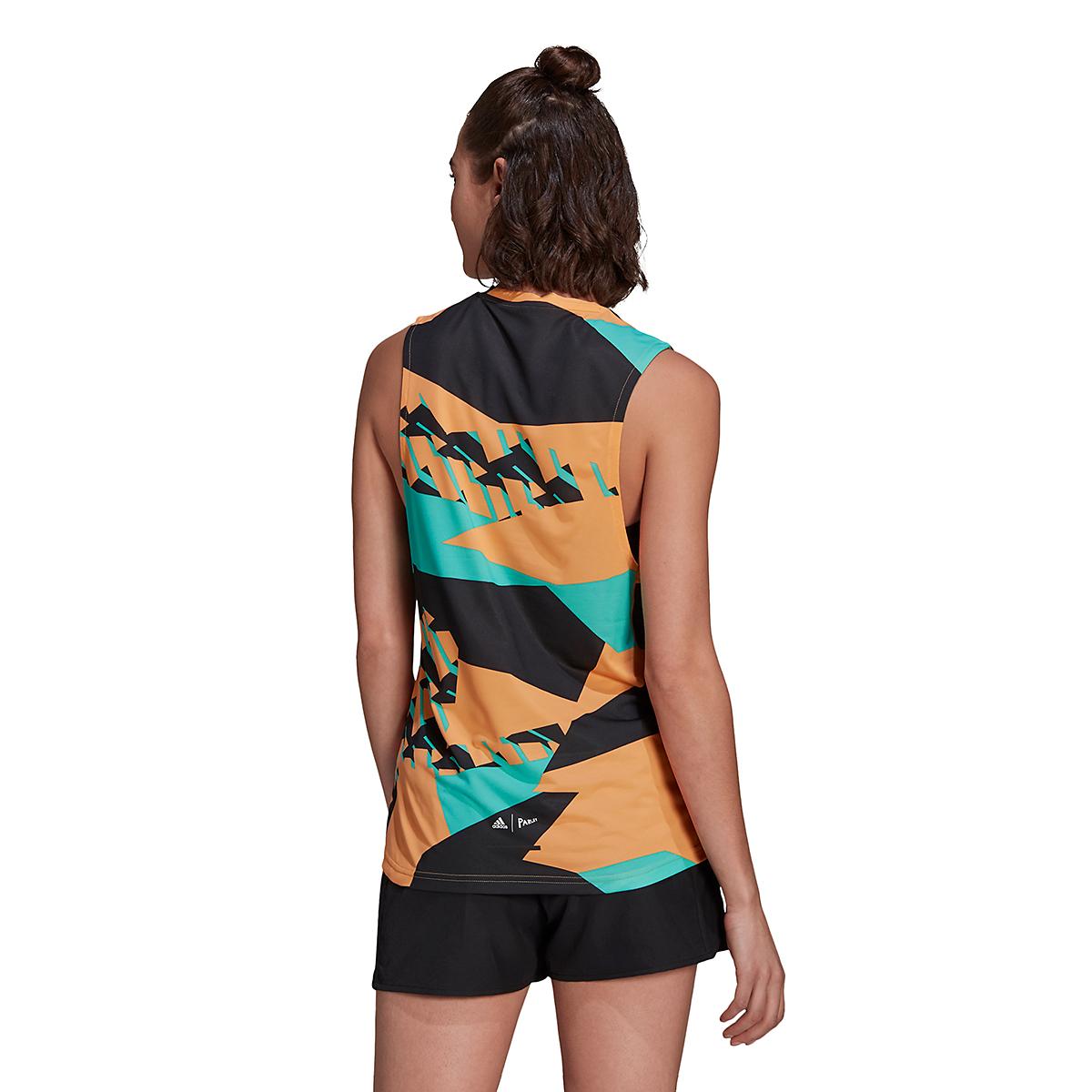 Women's Adidas Terrex Parley Agravic TR Tank Top - Color: Hazy Orange - Size: XS, Hazy Orange, large, image 2