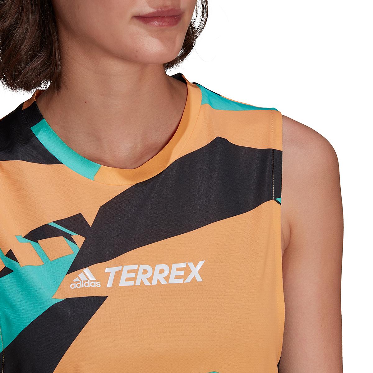 Women's Adidas Terrex Parley Agravic TR Tank Top - Color: Hazy Orange - Size: XS, Hazy Orange, large, image 4
