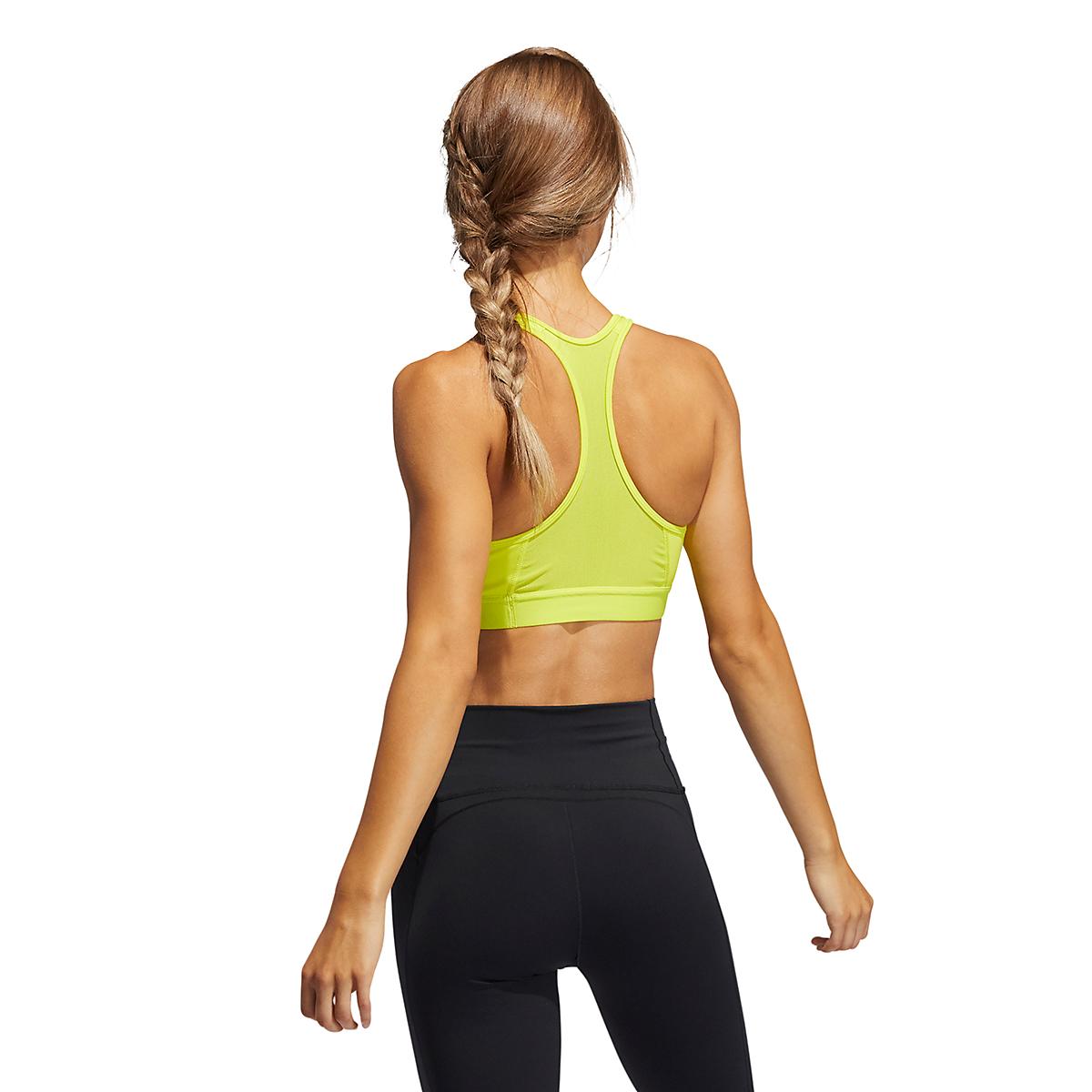 Women's Adidas Don't Rest Alphaskin Bra - Color: Acid Yellow - Size: XXS, Acid Yellow, large, image 2