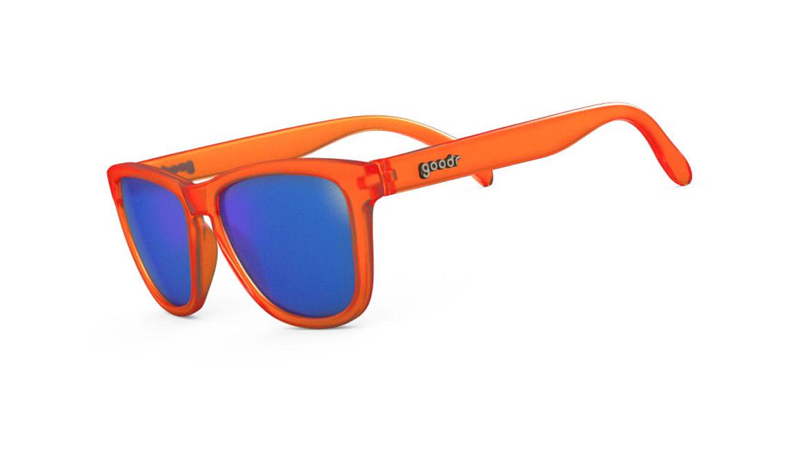 Goodr Donkey Goggles - Color: Orange/Blue Size: OS, Orange/Blue, large, image 1