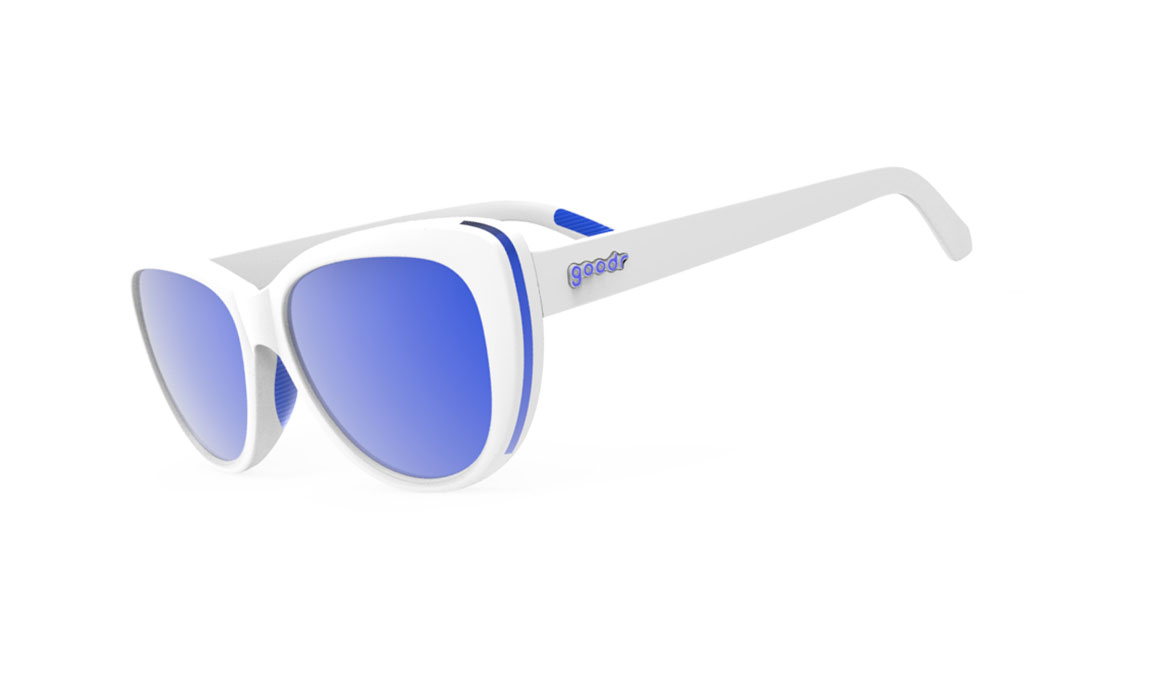 Goodr Iced By Zombie Dragons  - Color: White/Blue Size: OS, White/Blue, large, image 1