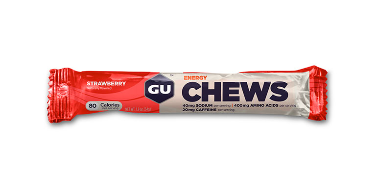 GU Energy Chews - Flavor: Strawberry - Size: Box of 18, Strawberry, large, image 1