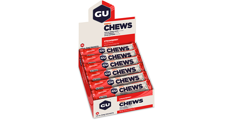 GU Energy Chews - Flavor: Strawberry - Size: Box of 18, Strawberry, large, image 2