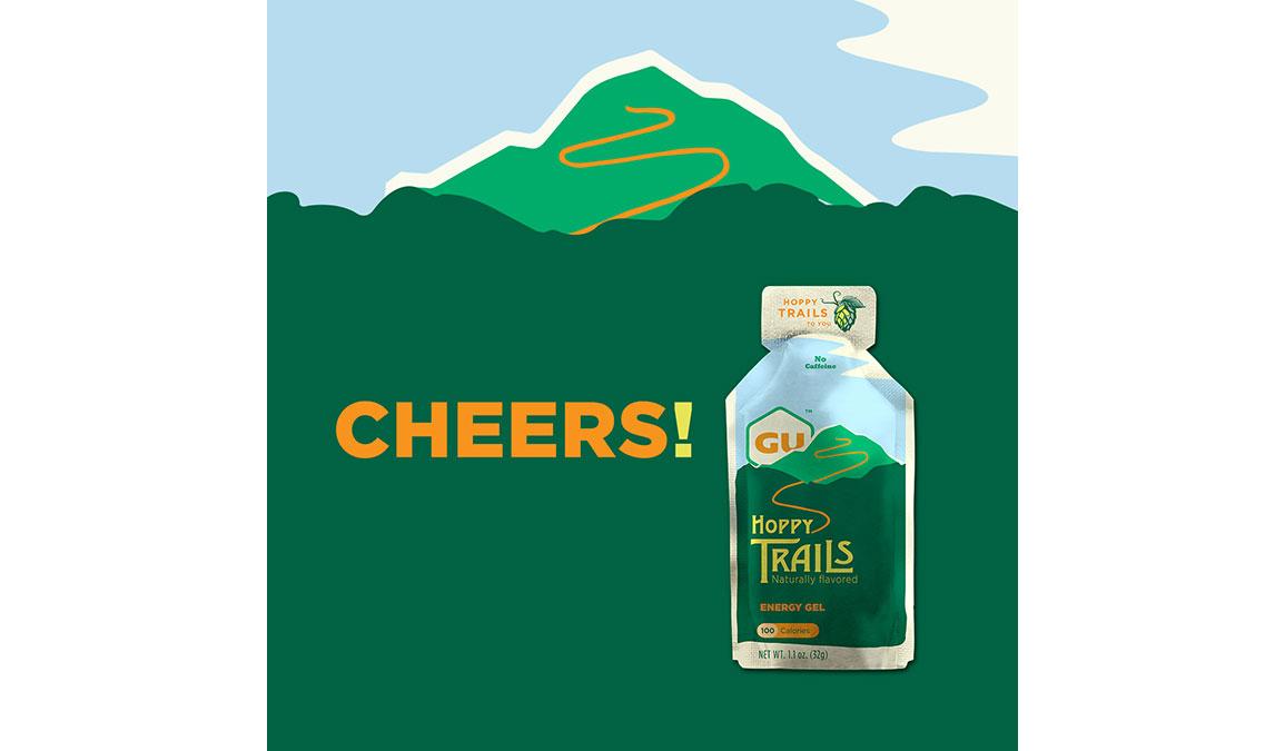 GU Energy Gel Hoppy Trails - Flavor: Hoppy Trails Size: Box of 24, Green, large, image 4