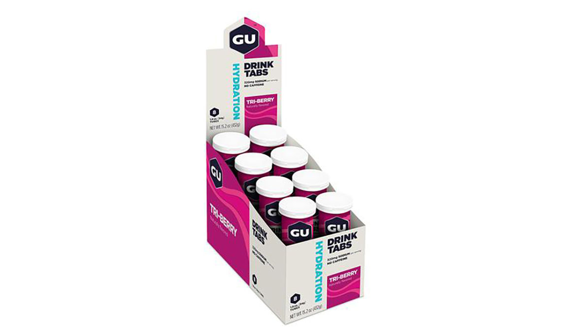 GU Hydration Drink Tabs - Box of 8 - Flavor: Triberry - Size: One Size, Triberry, large, image 1