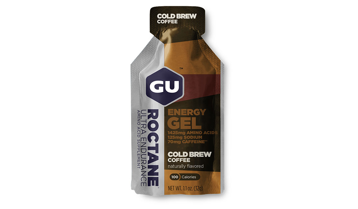Gu Roctane Energy Gel - Flavor: Cold Brew Coffee - Size: Box of 24, Coffee, large, image 1