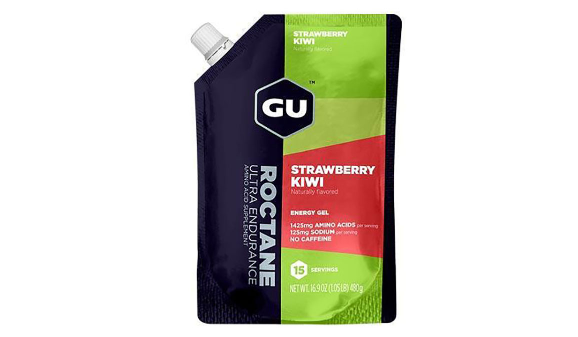 GU Roctane Energy Gel - Flavor: Strawberry Kiwi - Size: 15 Servings, Strawberry Kiwi, large, image 1