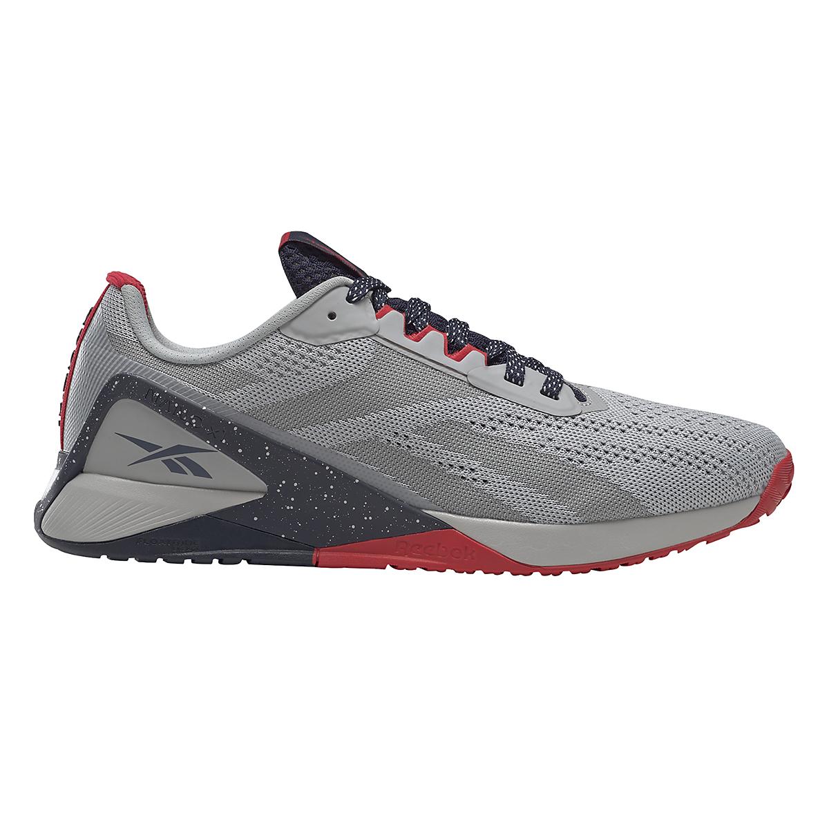 Men's Reebok Nano X1 Training Shoe - Color: Pure Grey/Vector Navy/Vector Red - JackRabbit Exclusive - Size: 8 - Width: Regular, Pure Grey/Vector Navy/Vector Red - JackRabbit Exclusive, large, image 1