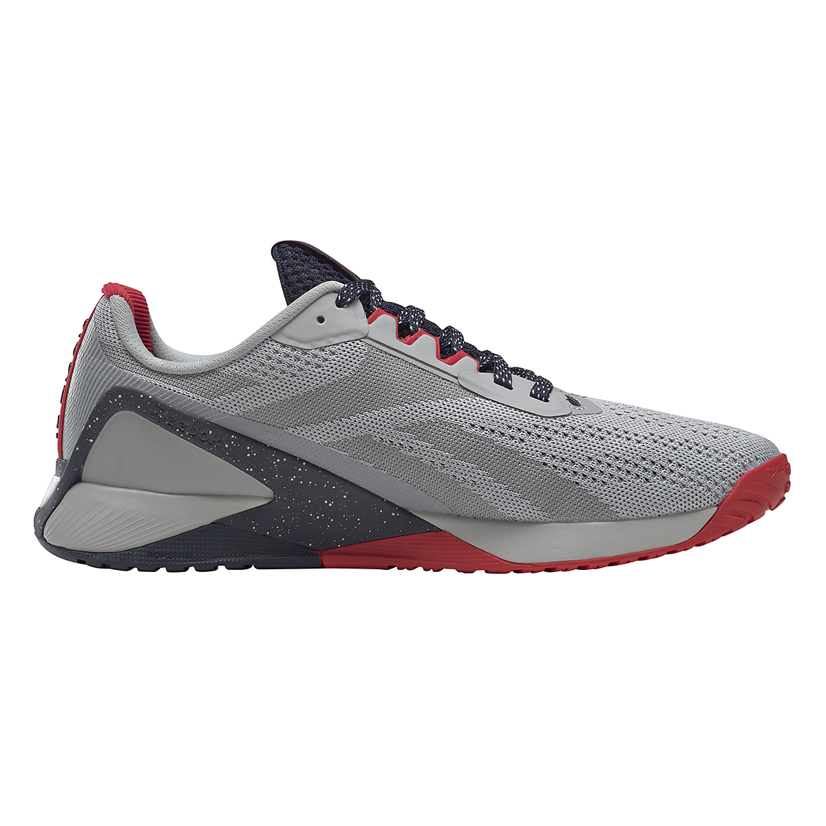 Men's Reebok Nano X1 Training Shoe - Color: Pure Grey/Vector Navy/Vector Red - JackRabbit Exclusive - Size: 8 - Width: Regular, Pure Grey/Vector Navy/Vector Red - JackRabbit Exclusive, large, image 4