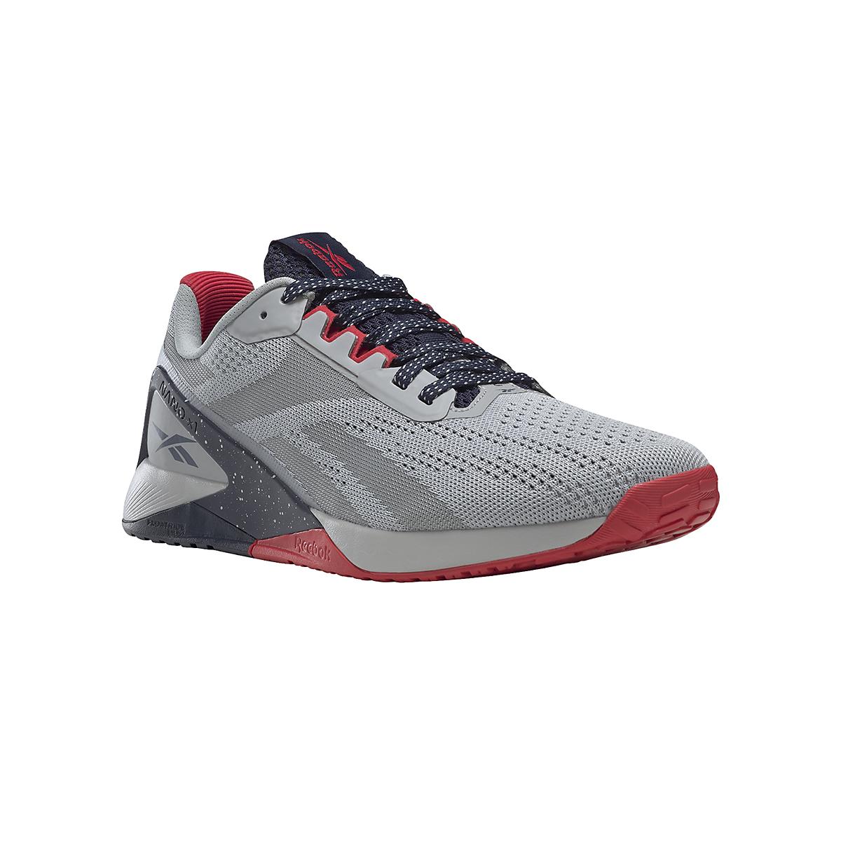 Men's Reebok Nano X1 Training Shoe - Color: Pure Grey/Vector Navy/Vector Red - JackRabbit Exclusive - Size: 8 - Width: Regular, Pure Grey/Vector Navy/Vector Red - JackRabbit Exclusive, large, image 5