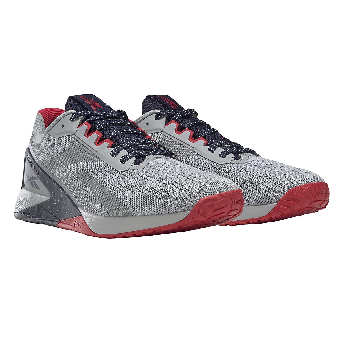 Men's Reebok Nano X1 Training Shoe - Color: Pure Grey/Vector Navy/Vector Red - JackRabbit Exclusive - Size: 8 - Width: Regular, Pure Grey/Vector Navy/Vector Red - JackRabbit Exclusive, large, image 7