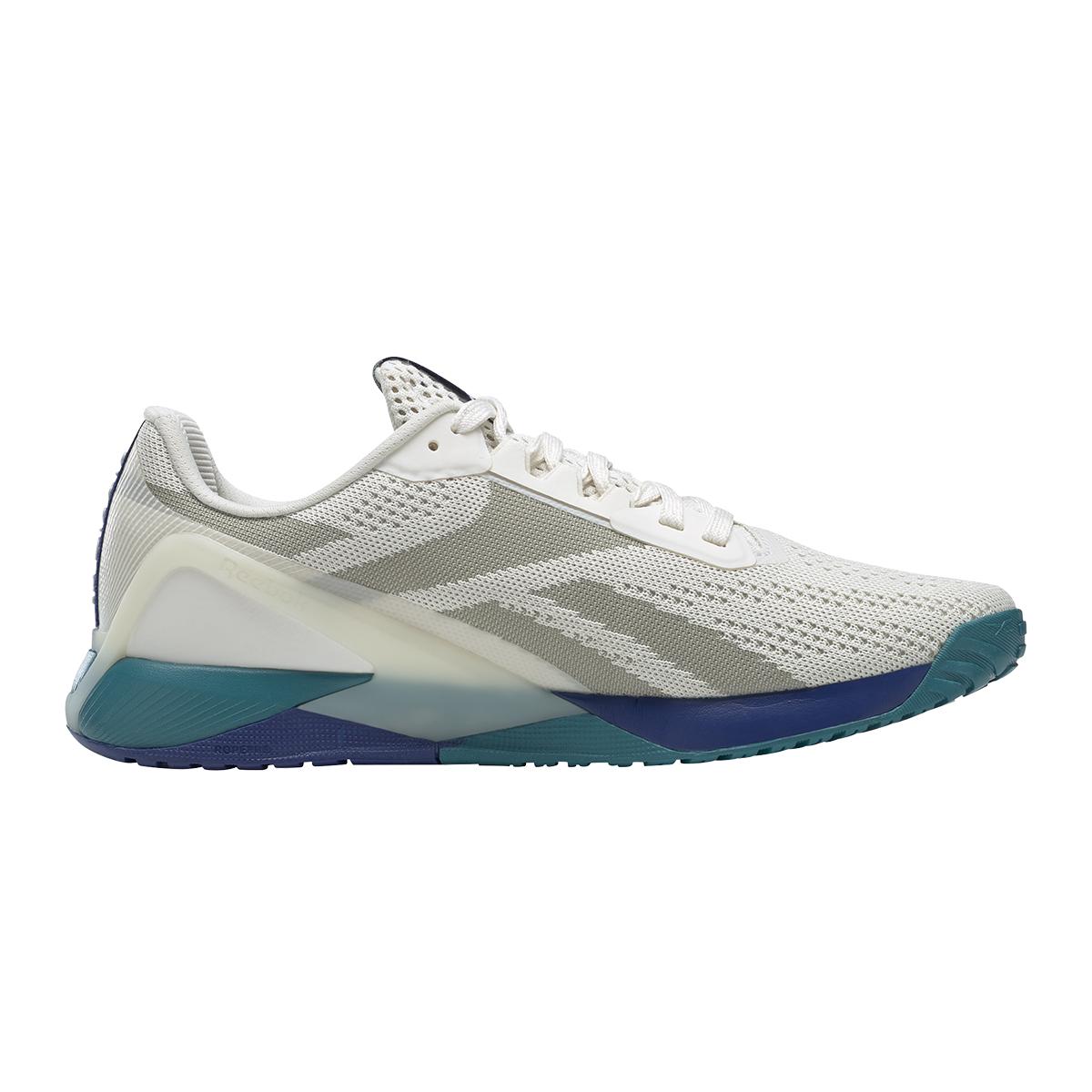 Men's Reebok Nano X1 Training Shoe - Color: Chalk/Classic Cobalt/Seaport Teal   - Size: 6 - Width: Regular, Chalk/Classic Cobalt/Seaport Teal, large, image 1