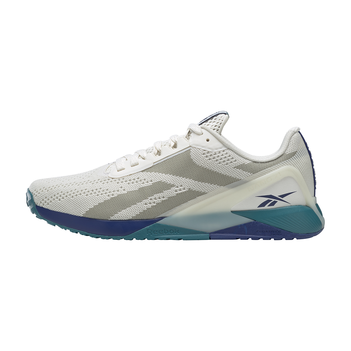 Men's Reebok Nano X1 Training Shoe - Color: Chalk/Classic Cobalt/Seaport Teal   - Size: 6 - Width: Regular, Chalk/Classic Cobalt/Seaport Teal, large, image 2