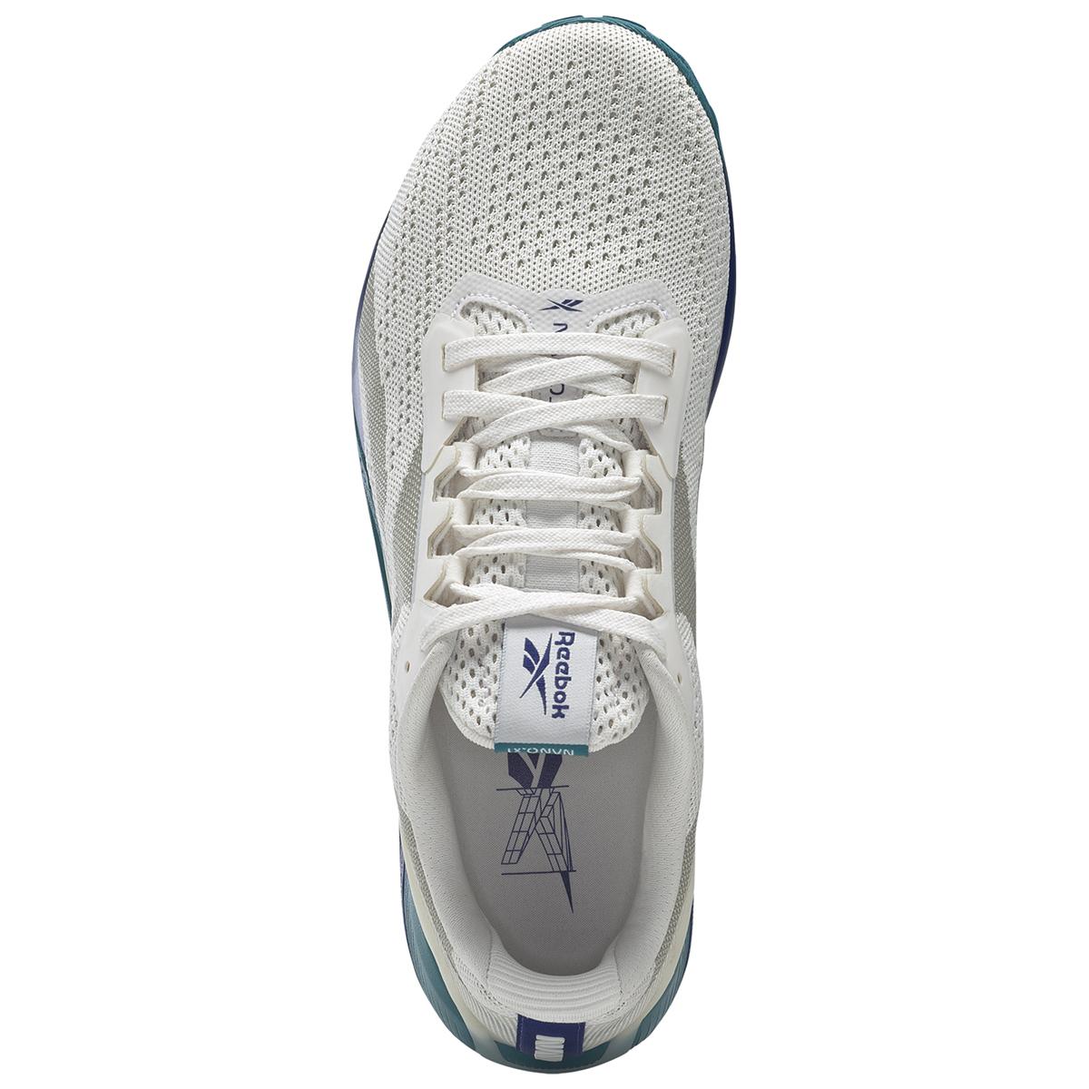 Men's Reebok Nano X1 Training Shoe - Color: Chalk/Classic Cobalt/Seaport Teal   - Size: 6 - Width: Regular, Chalk/Classic Cobalt/Seaport Teal, large, image 3