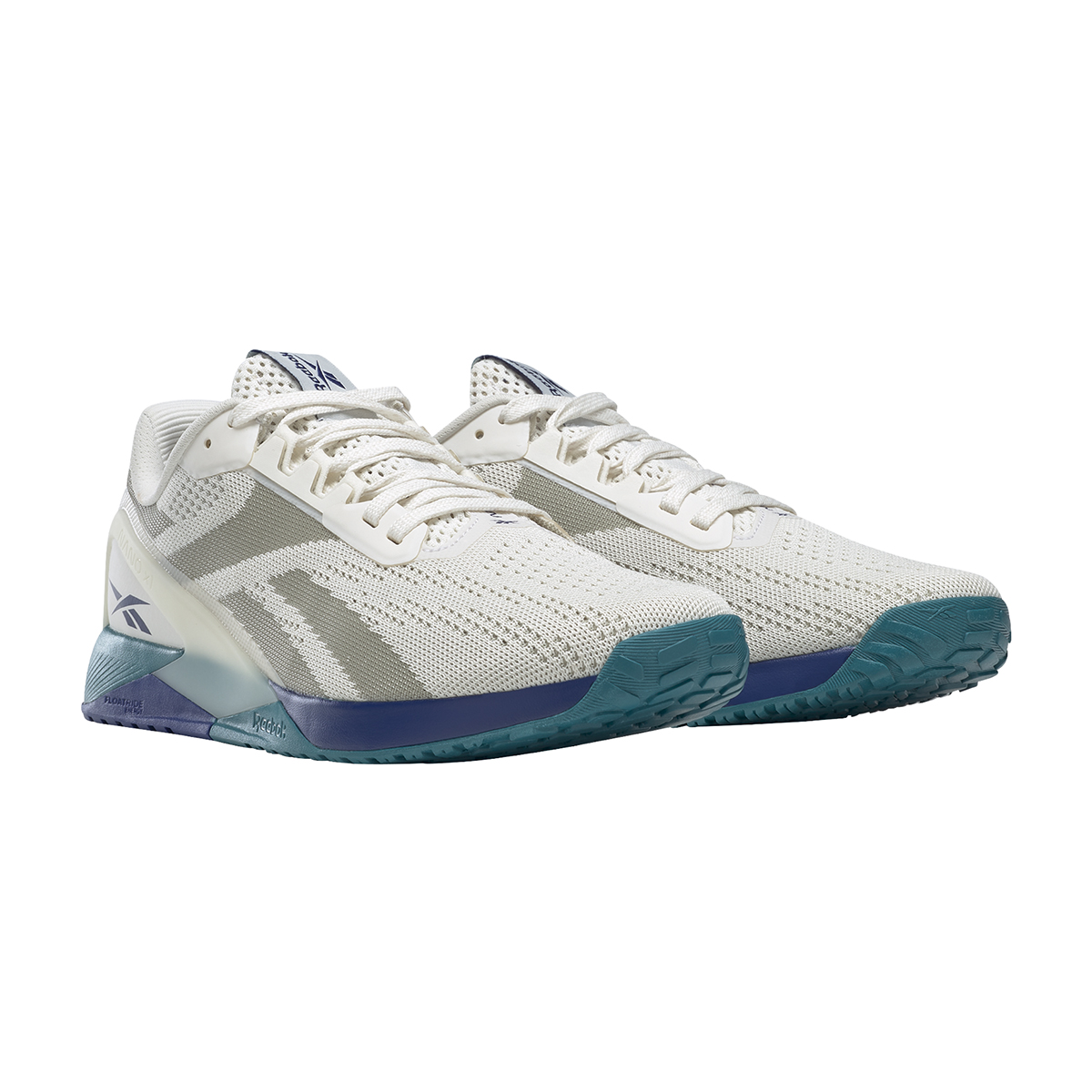 Men's Reebok Nano X1 Training Shoe - Color: Chalk/Classic Cobalt/Seaport Teal   - Size: 6 - Width: Regular, Chalk/Classic Cobalt/Seaport Teal, large, image 5