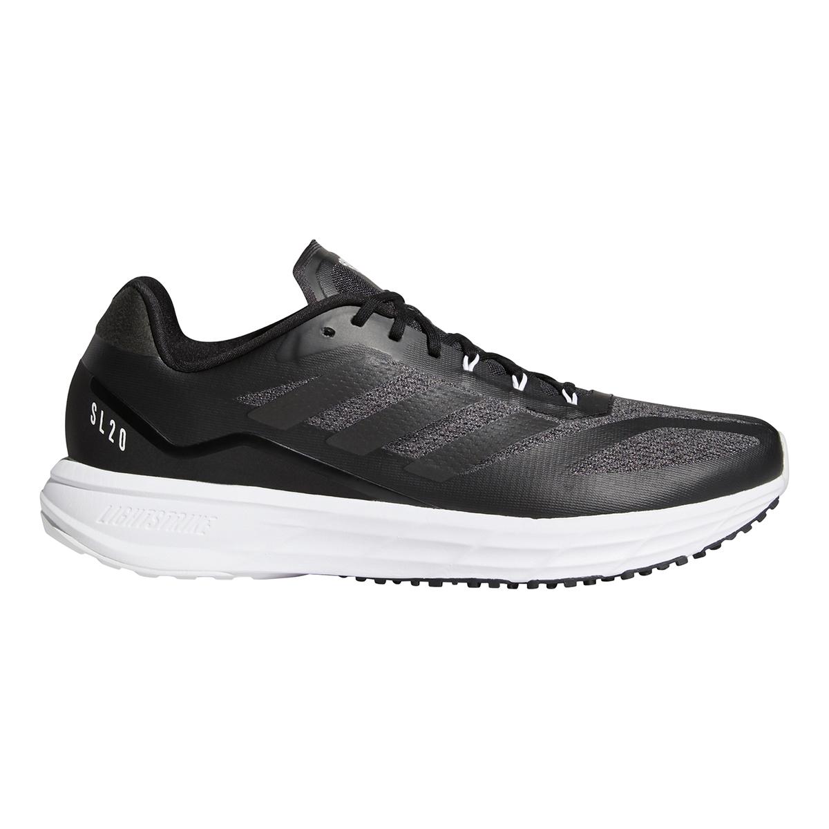 Men's Adidas SL20.2 Running Shoe - Color: Core Black/Grey - Size: 6.5 - Width: Regular, Core Black/Grey, large, image 1