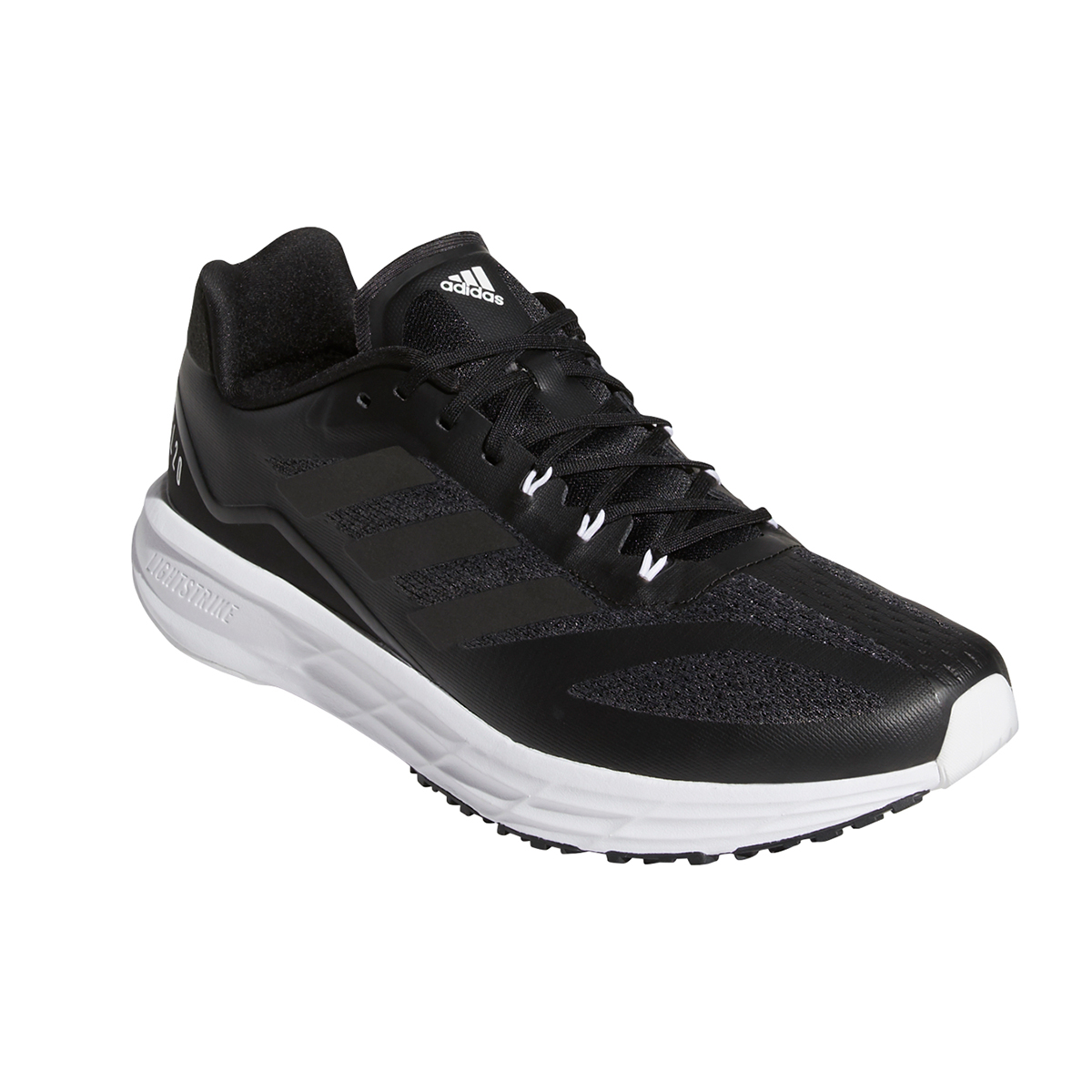 Men's Adidas SL20.2 Running Shoe - Color: Core Black/Grey - Size: 6.5 - Width: Regular, Core Black/Grey, large, image 3