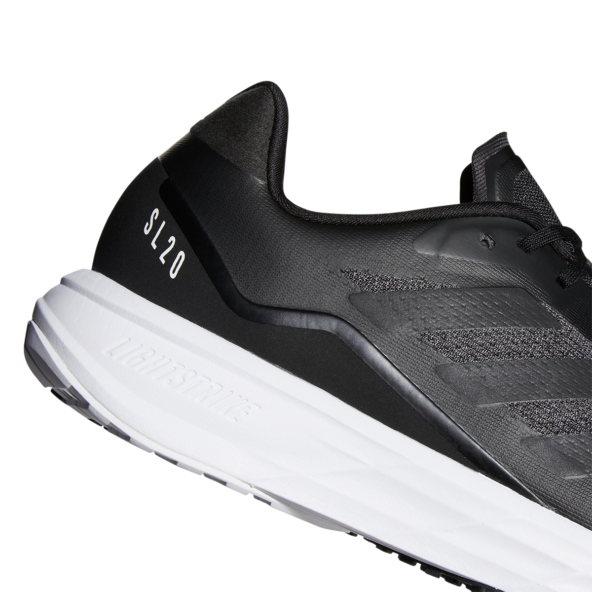 Men's Adidas SL20.2 Running Shoe - Color: Core Black/Grey - Size: 6.5 - Width: Regular, Core Black/Grey, large, image 4