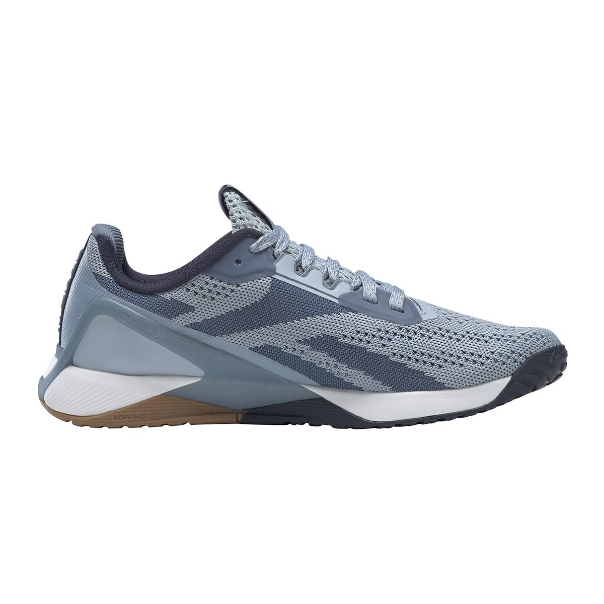Women's Reebok Nano X1 Training Shoe - Color: Gable Grey/Blue Slate/Vector Navy - Size: 5 - Width: Regular, Gable Grey/Blue Slate/Vector Navy, large, image 1