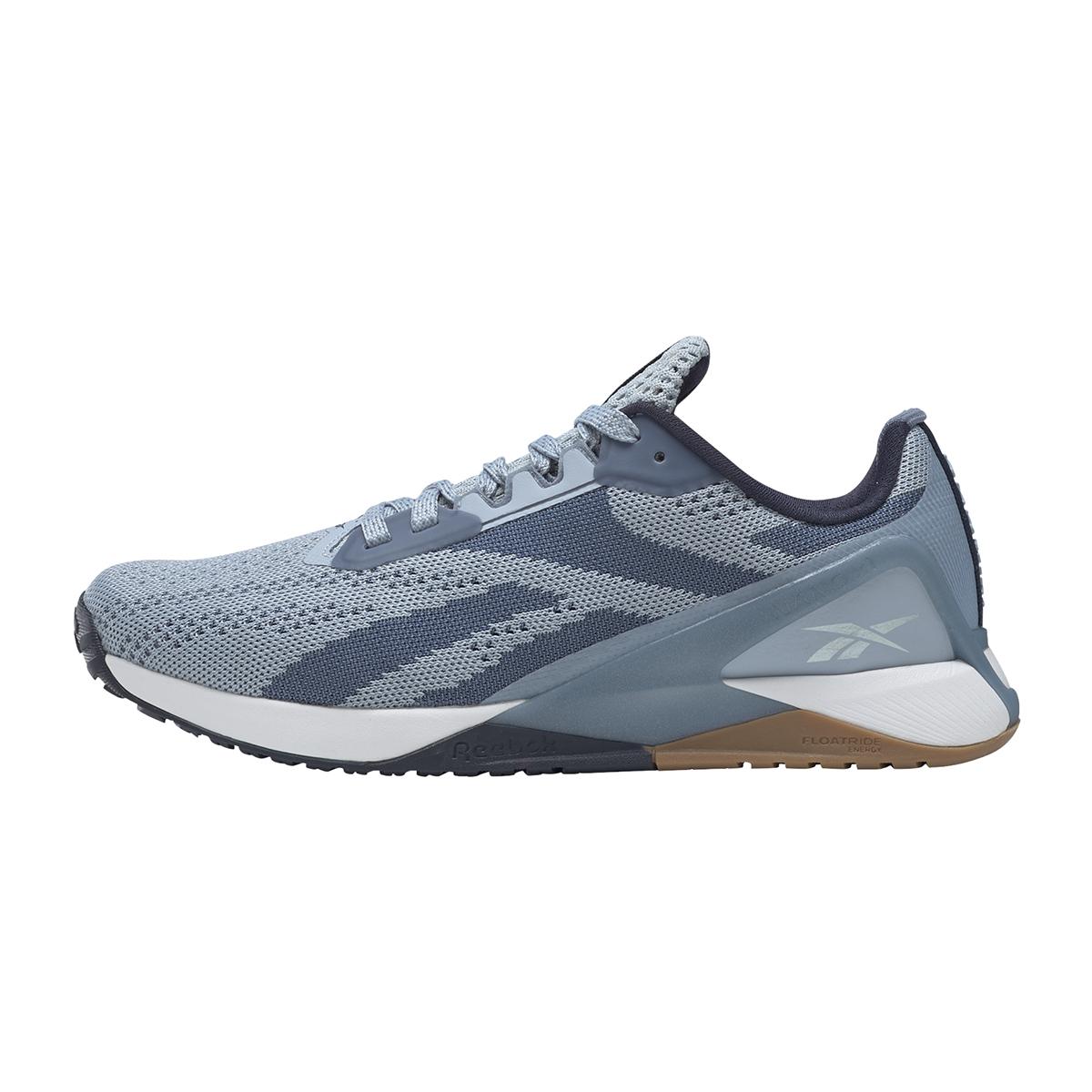 Women's Reebok Nano X1 Training Shoe - Color: Gable Grey/Blue Slate/Vector Navy - Size: 5 - Width: Regular, Gable Grey/Blue Slate/Vector Navy, large, image 2