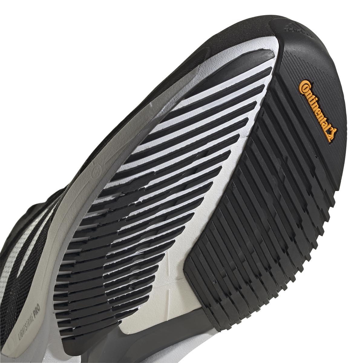 Men's Adidas Adizero Adios 6 Running Shoe - Color: Black/White/Grey - Size: 6 - Width: Regular, Black/White/Grey, large, image 4