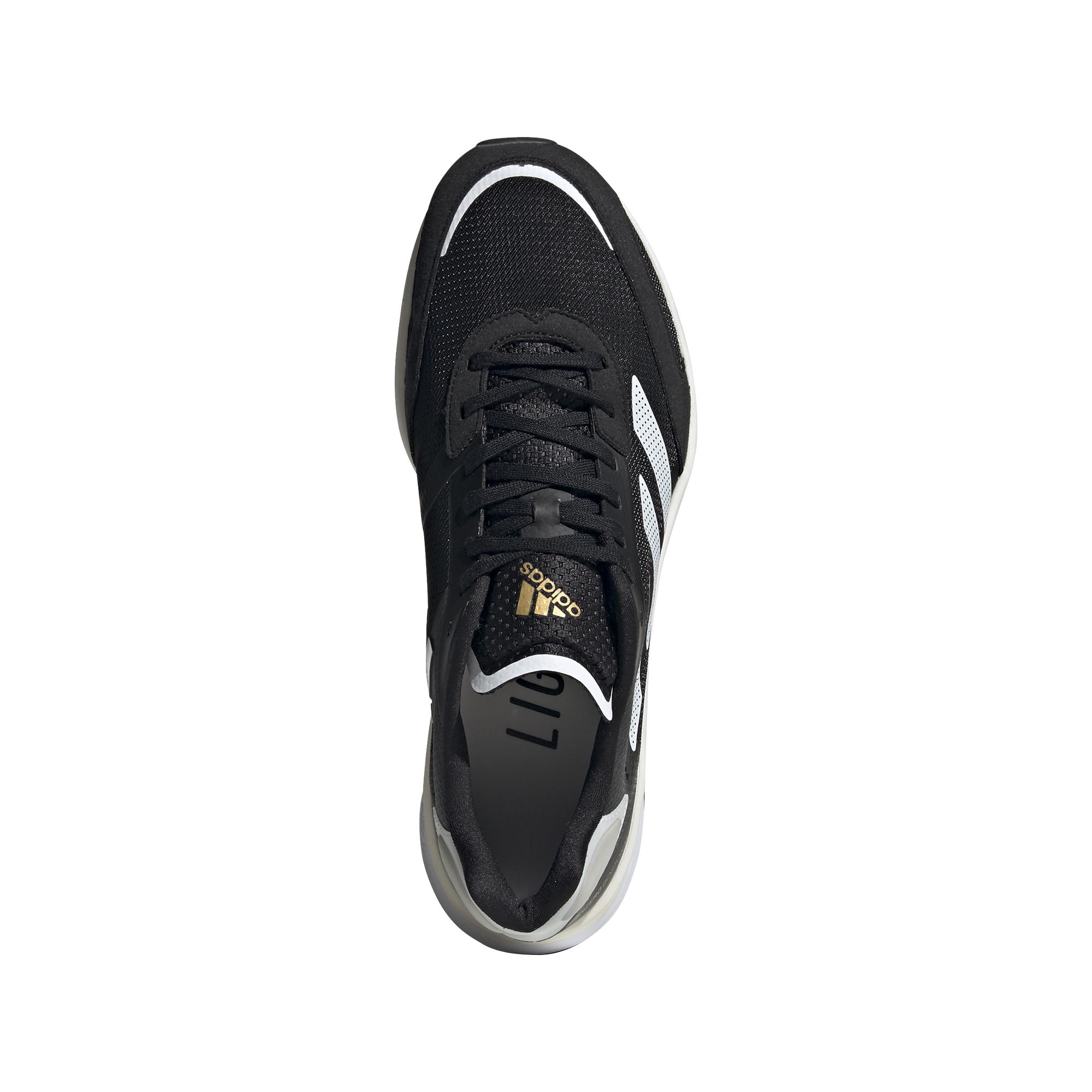 Men's Adidas Adizero Boston 10 Running Shoe - Color: Core Black / Cloud White / Gold Metallic - Size: 6.5 - Width: Regular, Core Black / Cloud White / Gold Metallic, large, image 3