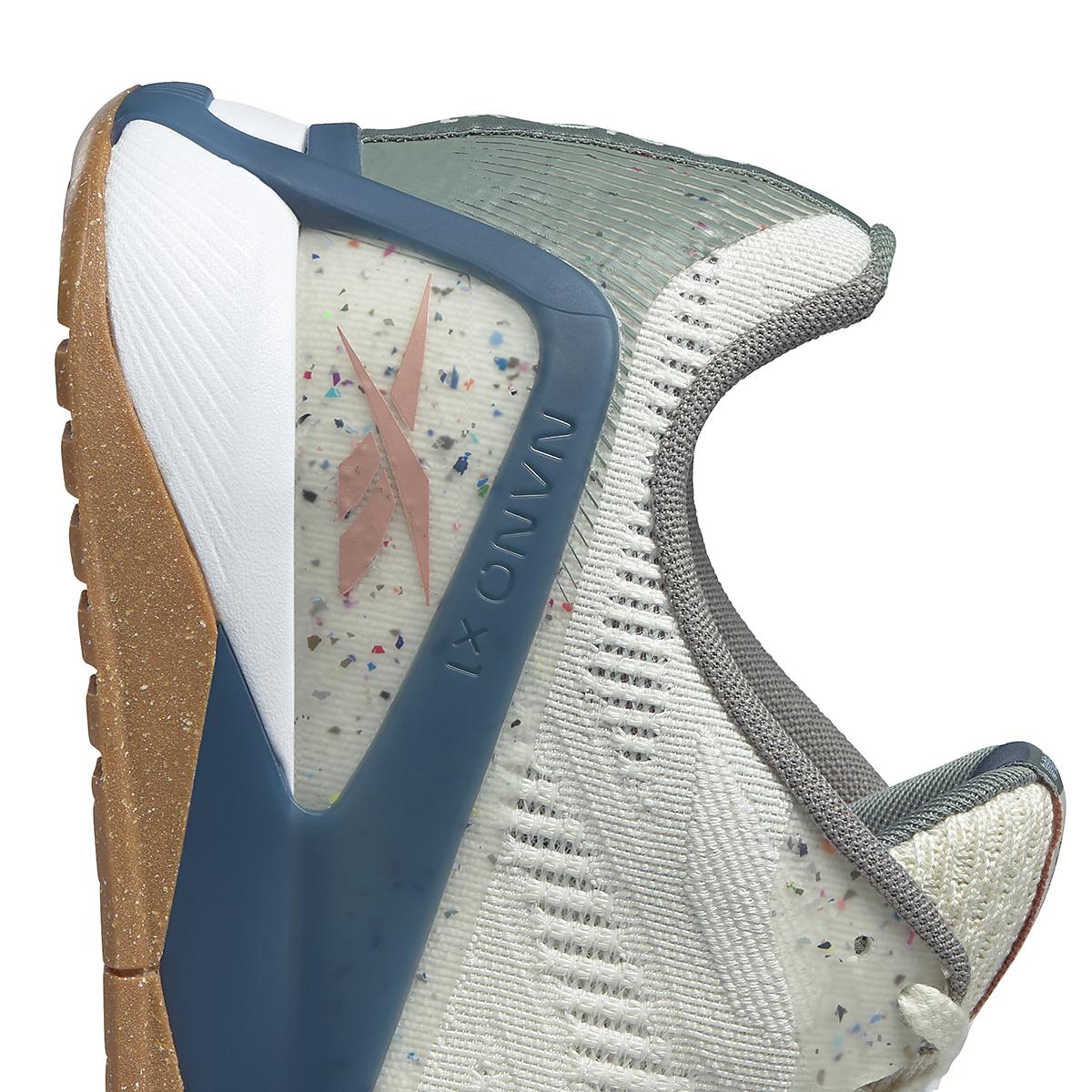 Men's Reebok Nano X1 Vegan Training Shoe - Color: Classic White/Harmony Green/Brave Blue - Size: 7.5 - Width: Regular, Classic White/Harmony Green/Brave Blue, large, image 4