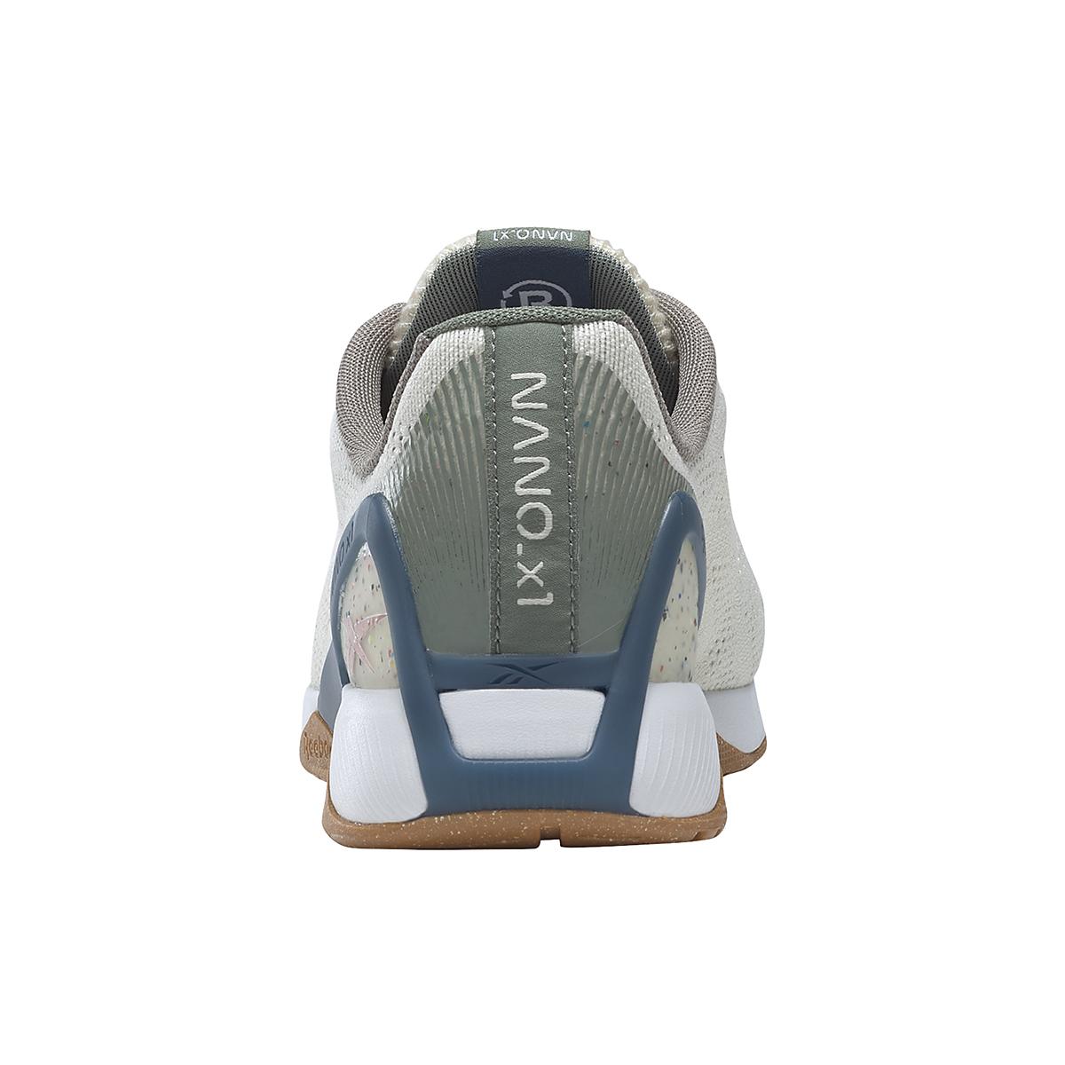 Men's Reebok Nano X1 Vegan Training Shoe - Color: Classic White/Harmony Green/Brave Blue - Size: 7.5 - Width: Regular, Classic White/Harmony Green/Brave Blue, large, image 6