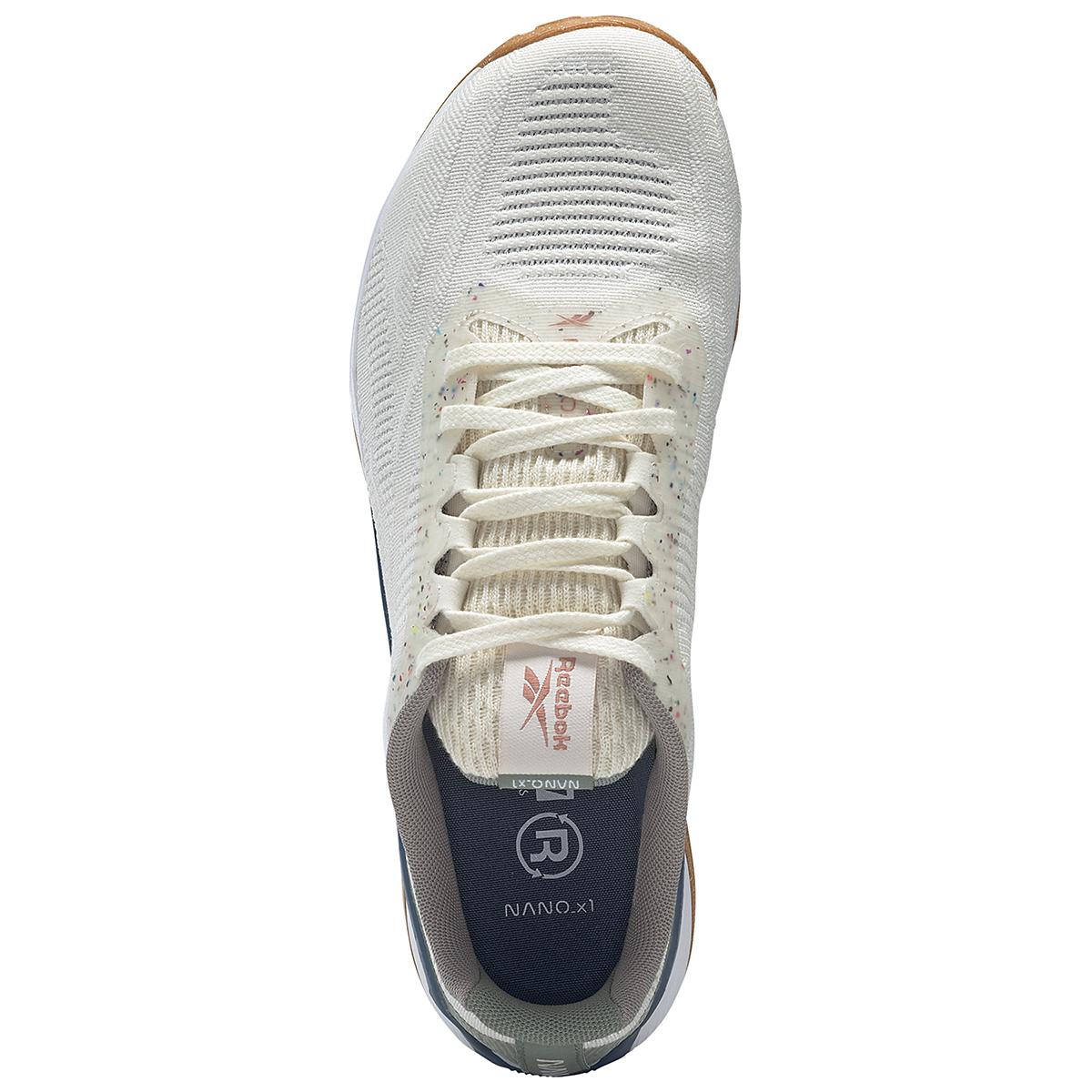 Men's Reebok Nano X1 Vegan Training Shoe - Color: Classic White/Harmony Green/Brave Blue - Size: 7.5 - Width: Regular, Classic White/Harmony Green/Brave Blue, large, image 7