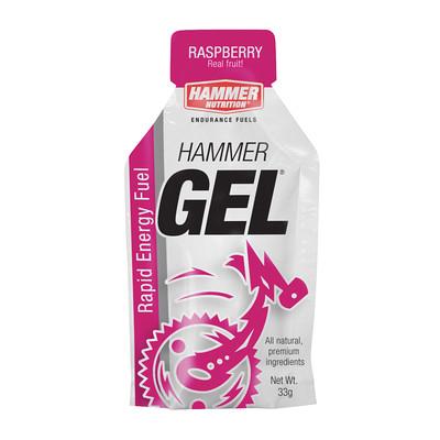 Hammer Nutrition Hammer Gel - Flavor: Raspberry - Size: Box of 24, Raspberry, large, image 1