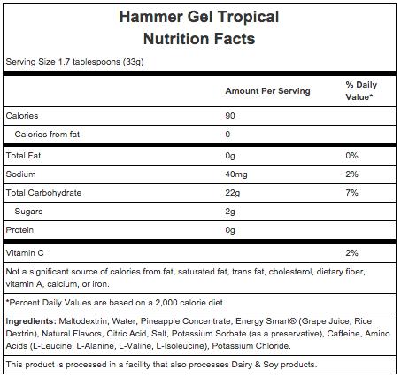 Hammer Nutrition Hammer Gel - Flavor: Tropical Fruit - Size: Box of 24, Tropical Fruit, large, image 2