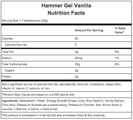 Hammer Nutrition Hammer Gel - Flavor: Vanilla - Size: Box of 24, Vanilla, large, image 2