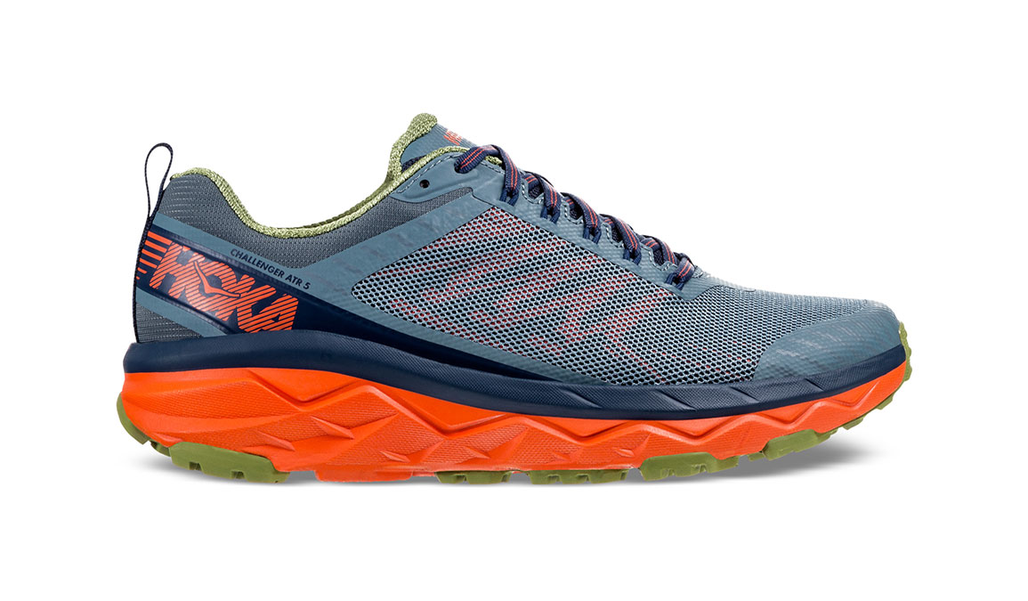 Men's Hoka One One Challenger ATR 5 Trail Running Shoe - Color: Stormy Weather/Moonlit Ocean (Regular Width) - Size: 9.5, Stormy Weather/Moonlit Ocean, large, image 1