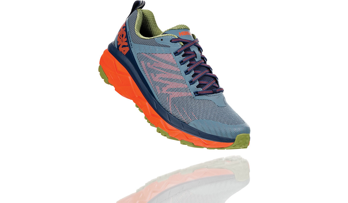 Men's Hoka One One Challenger ATR 5 Trail Running Shoe - Color: Stormy Weather/Moonlit Ocean (Regular Width) - Size: 9.5, Stormy Weather/Moonlit Ocean, large, image 2
