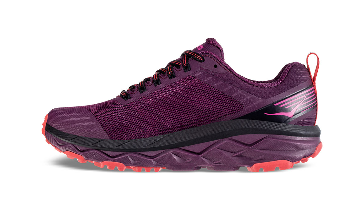 Women's Hoka One One Challenger ATR 5 Trail Running Shoe - Color: Italian Plum/Poppy Red (Regular Width) - Size: 5, Italian Plum/Poppy Red, large, image 4