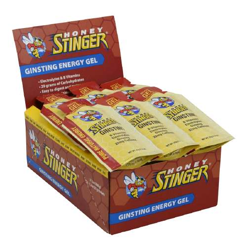 Honey Stinger Energy Gel - Flavor: Ginsting + Caffeine - Size: Box of 24, Caffeinated Ginsting, large, image 1
