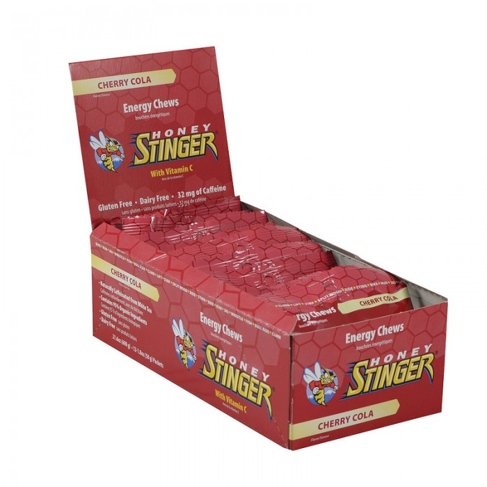 Honey Stinger Energy Chews - Flavor: Caffeinated Cherry Cola - Size: Box of 12, Caffeinated Cherry Cola, large, image 1