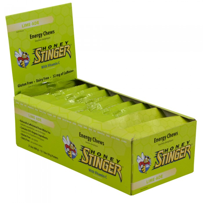 Honey Stinger Energy Chews - Flavor: Caffeinated Limeade - Size: Box of 12, Caffeinated Limeade, large, image 1