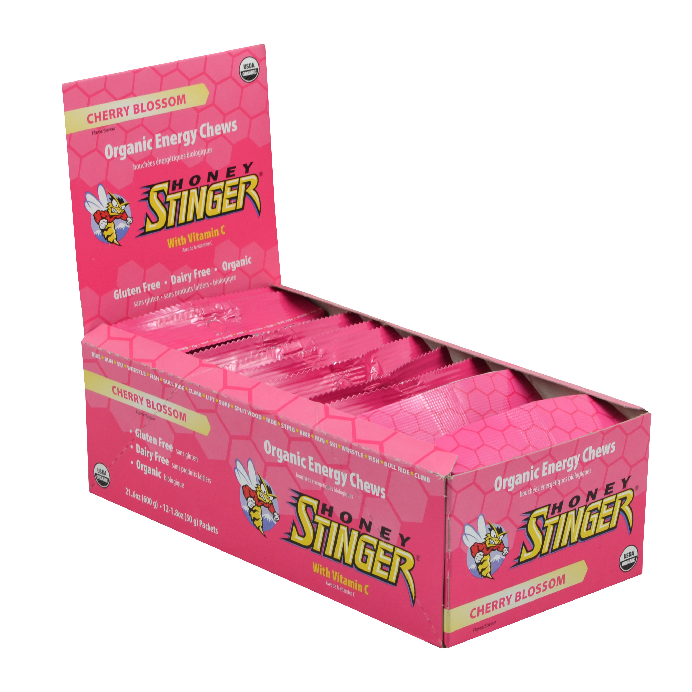 Honey Stinger Energy Chews - Flavor: Cherry Blossom - Size: Box of 12, Cherry Blossom, large, image 1