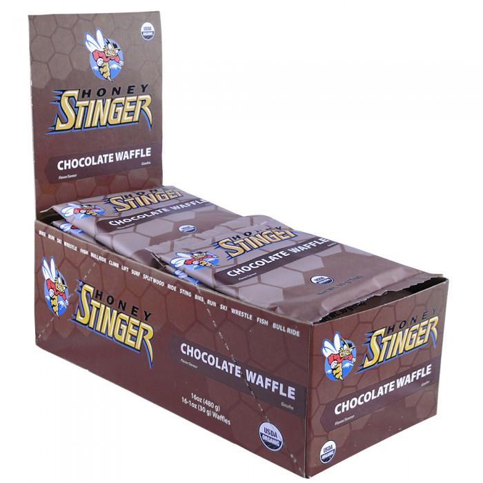 Honey Stinger Waffles Box of 16 Chocolate, Chocolate, large, image 1