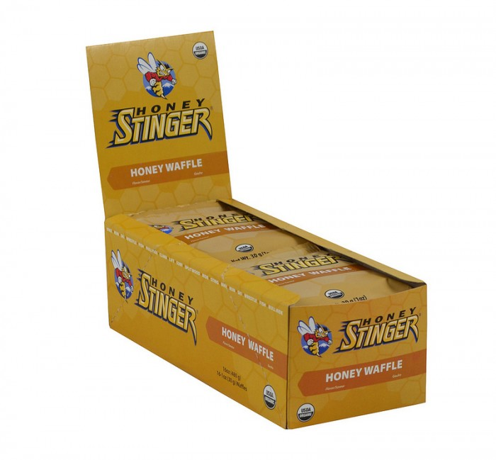 Honey Stinger Waffles - Flavor: Honey - Size: Box of 16, Honey, large, image 1