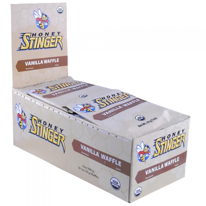 Honey Stinger Waffles Box of 16 Vanilla, Vanilla, large, image 1
