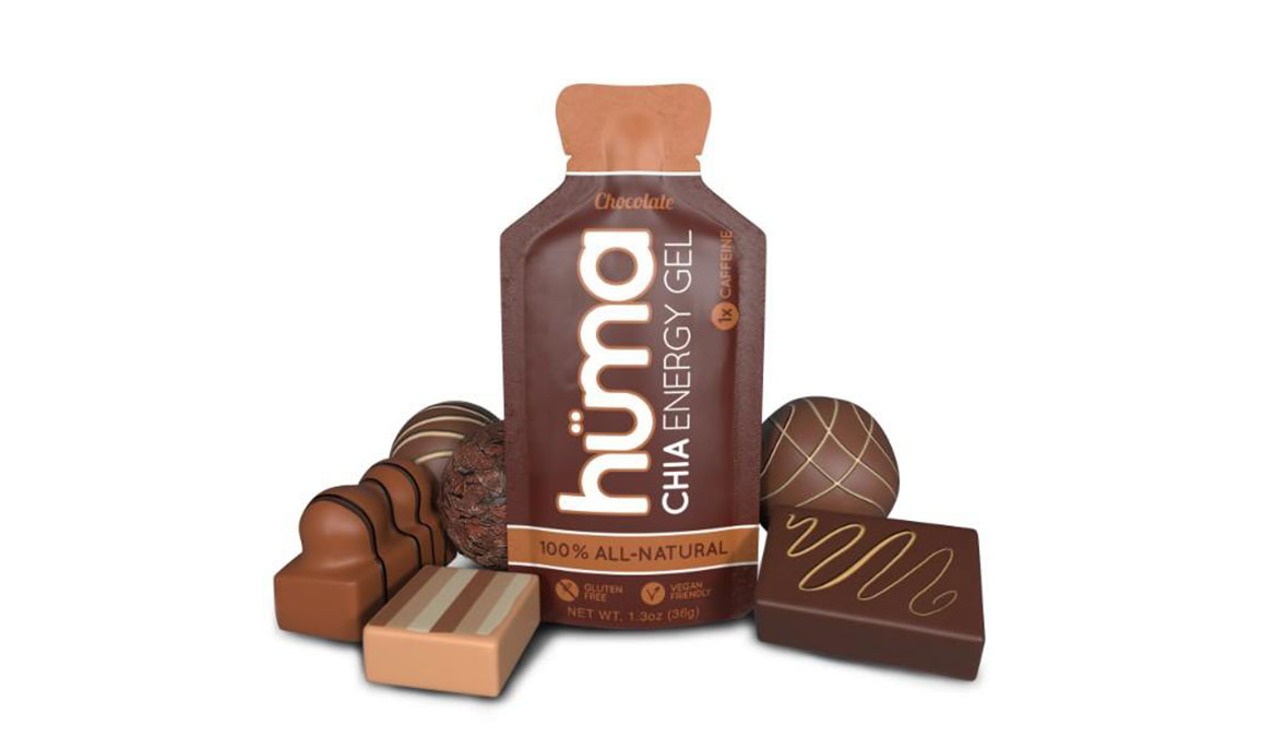 Huma Chia Energy Gel - Flavor: Chocolate - Size: Box of 24, Chocolate, large, image 1